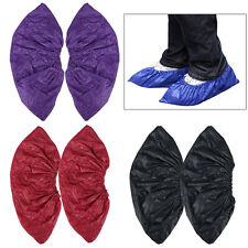 Waterproof Rain Shoes Cover Reusable Durable Thicken Flat Overshoes 1/2/3 Pairs