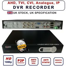 DVR CCTV Recorder 4 channels 8,16 ch H264 Hard Drive HDMI Hybrid High D HD  UK