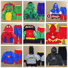 Boys Girls Kids Muscle Costume Set Halloween Party Dress Up Gift Outfit 2-7 Year