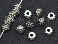30/150/800pcs Antique Silver Beautiful Circular Charm Jewelry Spacer Beads 5x3mm
