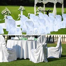 Universal Satin Self-Tie Chair Cover For Wedding Party Banquet Venue Decor Color