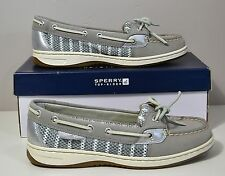 NIB SPERRY TOP SIDER ANGELFISH GRAY BRETON MESH BOAT SHOES SZ 6.5