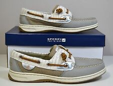 NWT SPERRY TOP SIDER BLUEFISH GRAPHITE STRIPE BOAT SHOES SZ 6 9.5