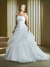New hot white/ivory Wedding Dress Bridal Gown custom size4-6-8-10-12-14-16-18-20