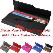 Holster Belt Clip Credit Card Wallet Holder Pouch To Hold iPhone LifeProof Case