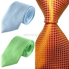 Classic Checks Jacquard Woven Silk Men Gentleman Tie Necktie Wedding Party  A70