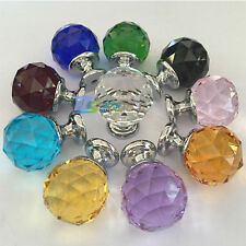 Fancy Crystal Class Cabinet Knobs Handle Kitchen Drawer Cupboard Handles Pull