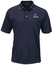 Tennessee Titans Moist Management Mens Navy Field Polo Shirt Big & Tall Sizes