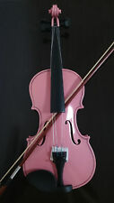 Violin Full Size Student Acoustic  Maple Spruce with Case Bow Rosin  Pink Color