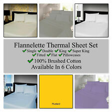 4Pcs Reversible 2-Tone Complete Duvet Cover & Fitted Sheet Bedding Set