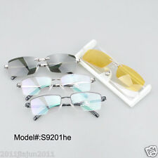 S9201 metal clip on spectacles eyewear UV400 polarized sunglasses optical frames