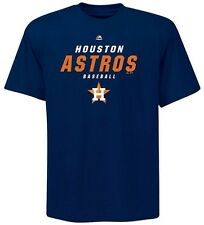 Houston Astros MLB Majestic Mens All The Way Shirt Navy Big & Tall Sizes