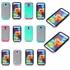 Dual Layer Hybrid Shock Proof Case Cover For Samsung Galaxy S5 Phone Protector