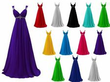 Stock Long Chiffon Bridesmaid Cocktail Evening Prom Dress Formal Gown Ball Party