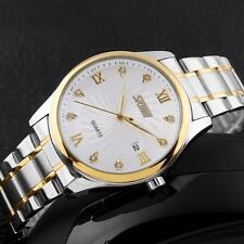 Luxury New Mens Quartz Sport Wrist Watch Date Diamond Dial Stainless Steel RU14