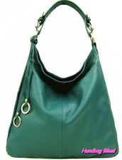Handbag Bliss LARGE Soft Italian Leather Slouch Shoulder Bag With Trims (New)
