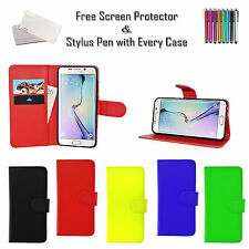 Leather Pu Wallet Flip Case Cover Card Holder For Samsung Galaxy Various Phones