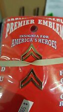 Premier Emblem Corporal Rank Insignias Gold in color - Smooth Finish
