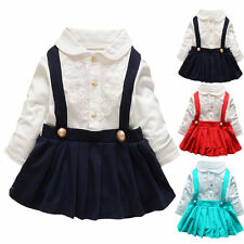 New Collection Baby Girl Navy Top Sailor Lace T-Shirt Dress Newborn To 24 Months
