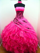 New Quinceanera Prom Dresses Formal Strapless Evening Wedding Bridal Ball Gowns
