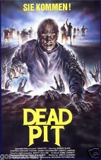 THE DEAD PIT Movie Poster Horror Zombies vhs Rare