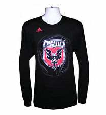 Soccer Mens Apparel - DC United Mls Mens Adidas LS Prime Time Tee Shirt, nwt