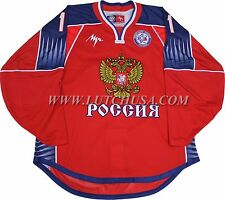 Authentic Malkin #11 Russian National Team Professional Hockey Jersey