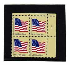#4129 FLAG (41) ND CENT WA  PLATE BLOCK OF 4 MINT NEVER HINGED