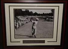 Ben Hogan 1-Iron Shot at the 1950 US Open at Merion Framed & Matted Golf Photo