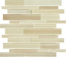 Eramosa Multi Linear Glass Mosaic for Kitchen Backsplash or Bathroom Wall Tile