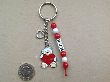 GIFT FOR MUM, MUMMY, BEST MUM or ANY NAME Handmade Teddy Bear keyring.