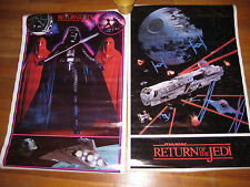 Two (2) Star Wars Posters 1983  Darth Vader/ Return of the Jedi     BRAND NEW