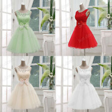 2017 Stock Short Tulle Ball Party Bridesmaid Dresses Evening Prom Cocktail Gowns