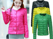 Full New Lady Fashion Korean style Casual Winter Candy Color Slim Jacket Coat