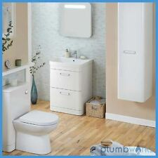 Vanity Unit Bathroom White Cabinet Floorstanding Sink Basin Ceramic WC Unit