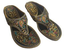 US KOLHAURI SHOES JAIPURI SHOES FLAT SHOES INDIAN SHOES KHUSSA SAREE SHOES DD499