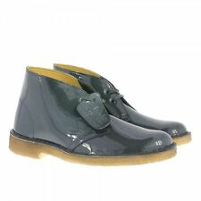 CLARKS ORIGINALS WOMENS ** X DESERT BOOTS ** PETROL PATENT LEATHER ** UK 6, 6.5