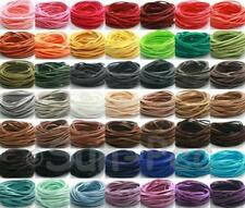 Flat Leather Faux Suede Cord Lace 49clr Jewelry Crafts DIY 3mm 90m/Assorted pack