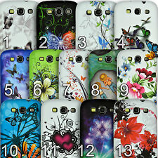 Floral Printed Silicone TPU Case Pattern Cover for Samsung Galaxy S3 i9300 S III