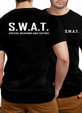 SWAT TShirt Graphic Black Police Combo Stag Party Fancy Dress Glasses Hat FBI NY