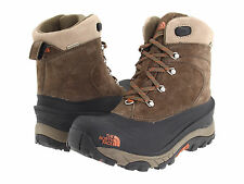 The North Face Mens Outdoor Trail Winter Snow Chilkat II Boot Brown SZ 9 10 11