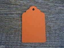 Kraft Orange Gift Swing Tags Small Wedding Favour Party Bomboniere Craft Shop