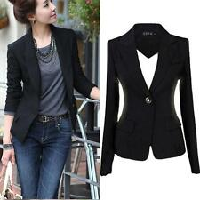 Fashion Womens One Button Outwear Slim Casual Business Blazer Suit Jacket Coat L