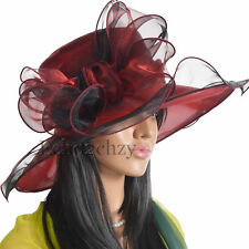Women BOW Church Dress Wide Brim Hat Derby Kentucky Derby Hat S039-11