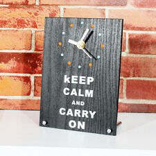 Desk Table Clock Keep Calm and Carry On Watch World War II Poster Style