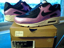 Womens Nike Air Max 90 Premium Black Laser Purple Sail Gum Brown 1 95 443817 001