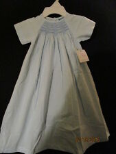 BABY BLUE LONG HEIRLOOM SMOCKED DAYGOWN UNISEX REMEMBER NGUYEN BOUTIQUE