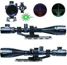 Hunting 6-24X50 AOEG Rifle Scope Dual illuminated Reticle w/ Green Laser Sight