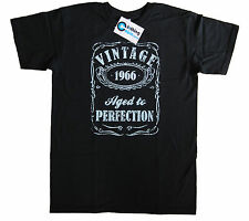Vintage Aged to Perfection 1966 50th Birthday Present T Shirt 50 Years Old