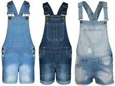 Ladies & KIDS Girls New Denim Dungaree Girls Short Jumpsuit Dress Playsuit Size